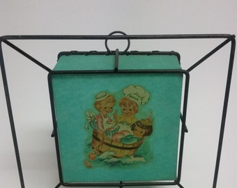 Vintage Children's Fibreglass Table/Wall Light Shade