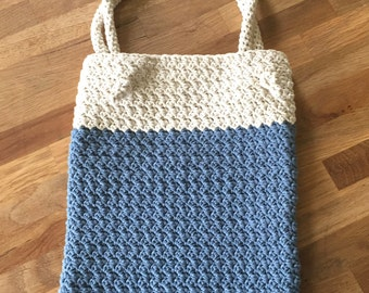 Knitted beach bag | Etsy