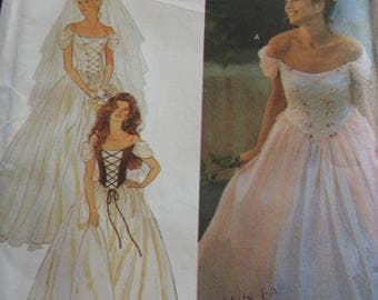 Simplicity 9163 Women's Laced Front Brides And Bridesmaids Wedding Gowns Sewing Pattern