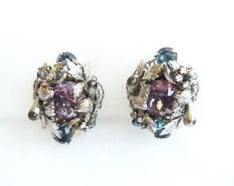 Ornate Clip On Earrings - Vintage Earrings