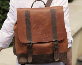 Leather backpack woman, leather rucksack, handmade, leather bag, leather backpack women, leather backpack purse, hipster backpack