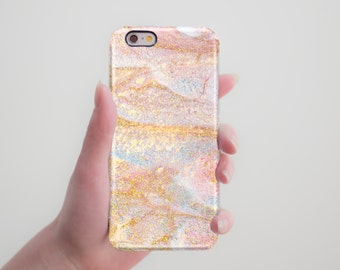 Marble Case Iphone 6S Case Peach Marble Iphone 6 Case Iphone 7 Plus Pastel Iphone 7 Case Phone Case 5s Spring Case to Galaxy S6 Edge Case s6