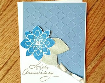 Anniversary Card, anniversary gift, 1st anniversary card, 50th anniversary card, parents anniversary, Stampin up card, homemade card