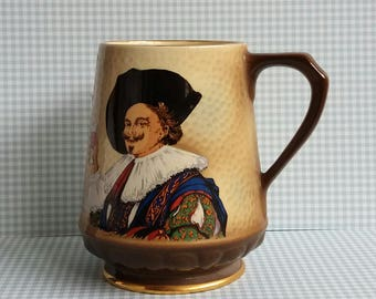Vintage 1960s Sylvac Laughing Cavalier Tankard - Staffordshire Pottery - Made in England