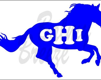HI - 5 Andalusian with Initials  Vinyl Decal