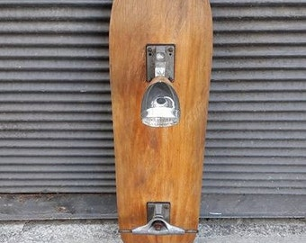 Repurposed Skateboard Lamp & Hangers
