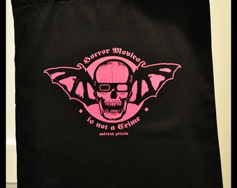 Horror Movies Not A Crime Totebag ***Last units*** ON SALE - Horror movies lovers