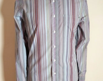 Vintage Paul Smith Jeans light blue casual shirt with various coloured stripes