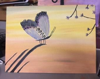 Handmade Acrylic Butterfly Painting