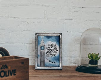 Peter Pan Quote Printable - To Live will be an awefully big Adventure