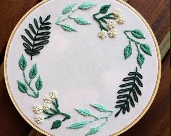 Custom Floral Embroidery Hoop Art