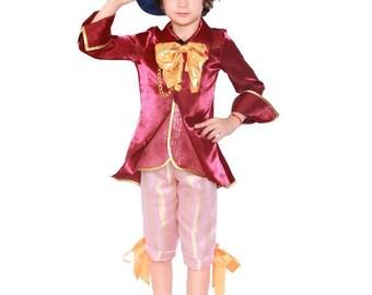 boys mad hatter costume boys wonderland cosplay kids mad hatter costume boy christmas pageant costume mad - Mad Hatter Halloween Costume For Kids