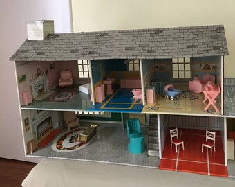 1950's Large Tin Litho House
