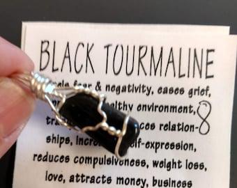 Black Tourmaline Charm