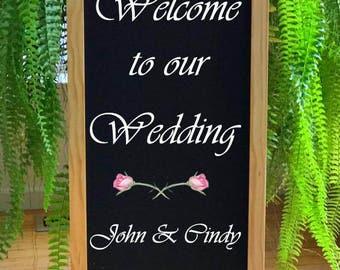 Wedding Welcome, Wedding Signs, Rustic Wedding Signs, Reception Sign, Wedding Decor, Wedding Theme Sign, Wedding Sign, Wedding Chalkboard