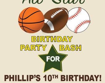 Sports Birthday Party Invite