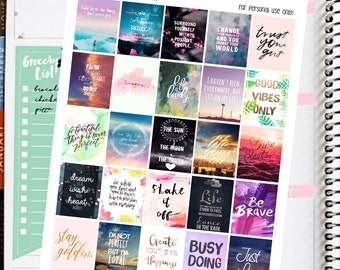 Motivational/Inspirational Quotes Printable Planner Stickers Fpr Erin Condren Planner Inspirational Quotes