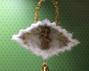 Tart Tin Ornament Christmas Angel