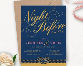 Printable Nautical Rehearsal Dinner Invitation / Wedding Rehearsal Dinner Invitation Template / Navy Wedding Printable Invites
