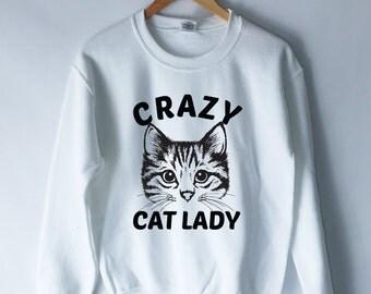 Crazy Cat Lady Sweatshirt - Show Me Your Kitties Jumper - Cat Shirt - Cat Lover - Kitties Shirt - Cat Lady Tank Top - Tumblr Shirt