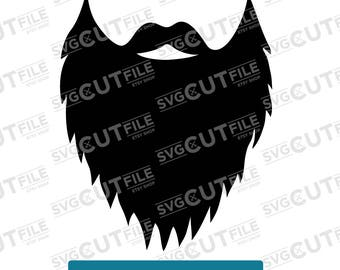 Beard SVG for photobooth prop - Cricut, Cameo, cut or cuttable file