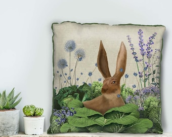 Bunny gifts nursery pillow easter pillow Cabbage Patch5 farmhouse pillow uk seller only uk shop Rabbit nursery decor decorative pillow