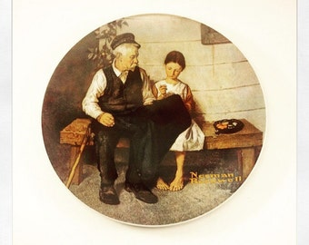 Norman Rockwell by Knowles American fine china virginia usa Limited edition collctor plate the lighthouse keepers daughter