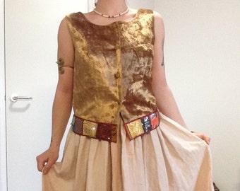 Embellished hippy vintage waistcoat/vest