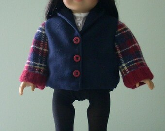 "American Girl/18"" Doll Wool Coat Jacket and Cap"