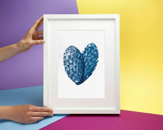 Heart-Shaped Cactus Leaves, Limited Edition
