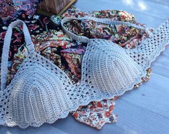 Crochet bra, Crochet Bikini, Bra Top,  bikini, swimsuit,  bralette, unique gifts for woman, Crochet Crop Top, crochet fashion, under 50