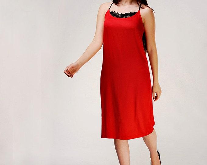 Camisole Dress, Little Red Dress, Cocktail Dress, Evening Dress, Midi Dress, Slip Dress