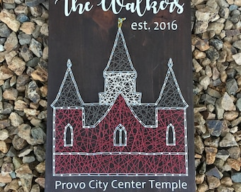 Provo City Center Temple String Art *Made-to-Order*