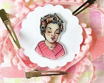 Curlers Lady Head
