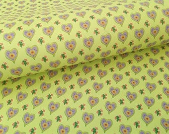 Chartreuse Hearts Wrapping Paper Sheets, Lime green, yellow green, sweet print gift wrap, 20 x 29 inches, shipped rolled in tube