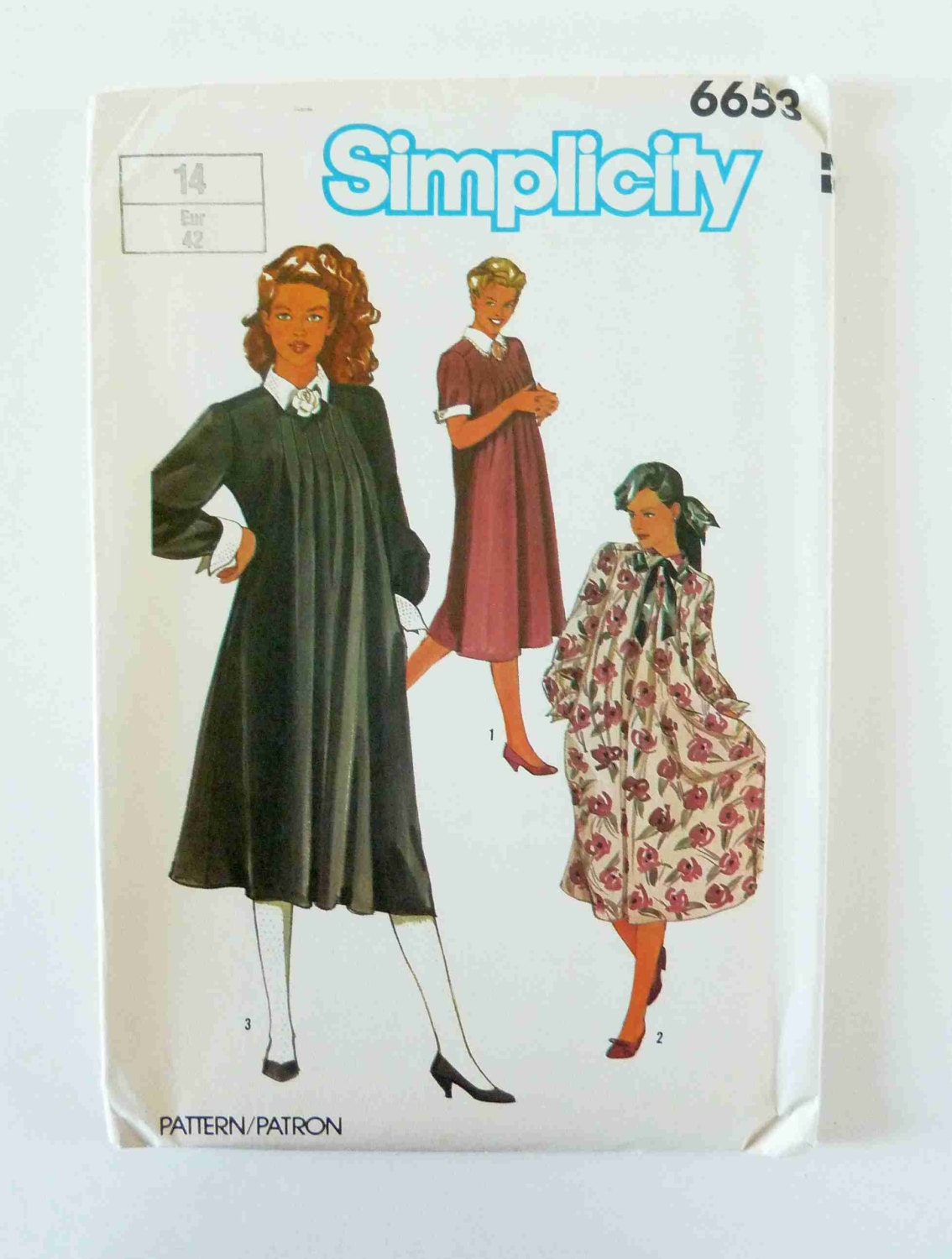 1980s maternity dress sewing pattern size 14 simplicity 6653 1980s maternity dress sewing pattern size 14 simplicity 6653 1980s maternity dress vintage maternity wear 1980s pregnancy dress ombrellifo Images
