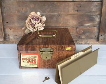 Vintage Metal File Box (A), File Cabinet, Brown, Porta File, Industrial Decor, Cottage Style, Farmhouse Style, Rustic Decor, Office Decor