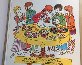 A to Z No Cook Cookbook - 1970s Cookbook - Illustrated Cookbook - Kids Cookbook - Vintage Kids Book - Felipe Rojas-Lombardi - No Cook Book