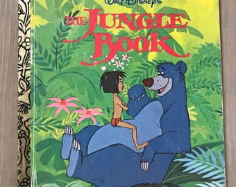 Walt Disney's The Jungle Book Little Golden Book 1995 Vintage Children's Mowgli Kipling