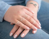 Stacking Ring, Midi Ring, Knuckle Ring, Mothers day gift, Sterling silver Ring,