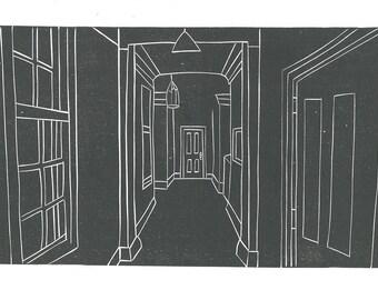 Corridor - Linocut