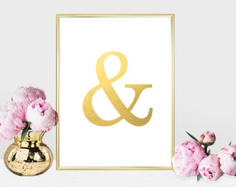 Printable art Digital Prints glam ampersand