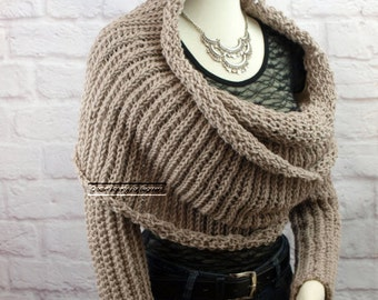 how to make a scarf out of sweater sleeves