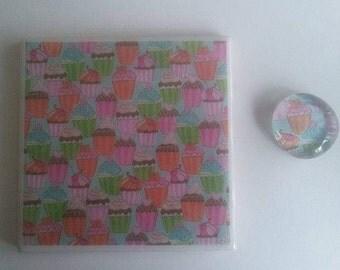 Cupcake Coaster & Magnet Set