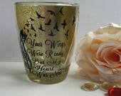 Your wings were ready memorial candle tea light holder. Rememberence sympathy gift, pet memorial, infant loss, angel baby keepsake