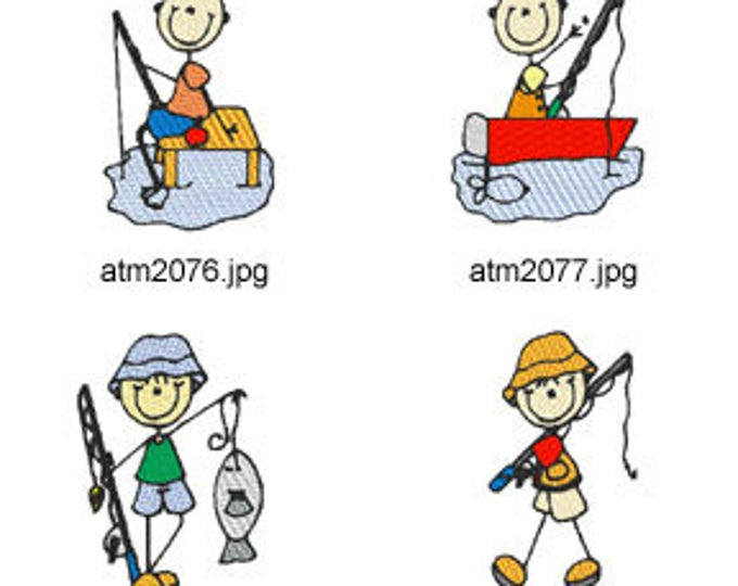 Fishing-Sticks. ( 7 Machine Embroidery Designs from ATW ) XYZ17C