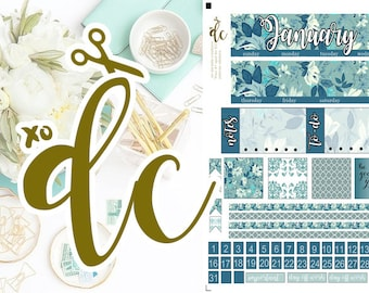 January Monthly View -- Vertical Planner for use with ERIN CONDREN LIFEPLANNER™
