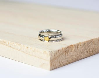 Emma spinner ring, spinning ring, worry ring, fidget ring, anxiety ring, meditation ring, anxiety jewelry, spin ring, meditation rings