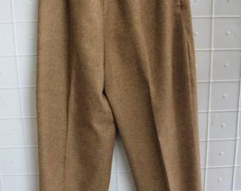 Vintage Women's Wool Tweed Dress Pants by A. Giannetti Size Small Medium