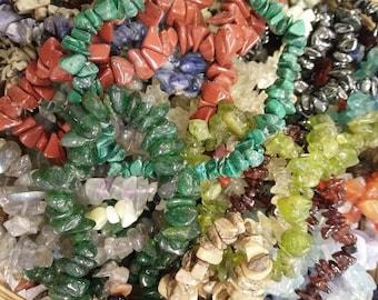 Assorted Crystal Chip Bracelets